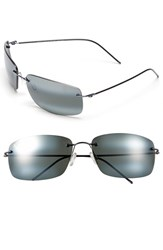 Men's Maui Jim 'Frigate Polarizedplus2' 65Mm Polarized Sunglasses Gunmetal Blue Neutral Grey