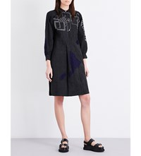 Kilometre Inhotim Brazil Linen Dress Navy