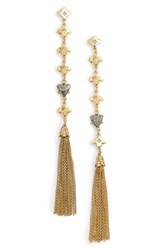 Badgley Mischka Women's Tassel Drop Earrings Gold