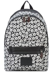 Coach Chevron Star Print Academy Backpack Black