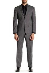 Spurr By Simon Spurr Charcoal Pindot Two Button Notch Lapel Wool Suit Gray