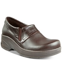 Easy Street Shoes Works By Assist Slip Resistant Clogs Women's Tan Brown Croco