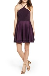 Speechless Fit And Flare Dress Plum
