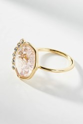 Anthropologie Crowned Cocktail Ring Pink
