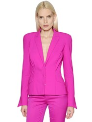 Thierry Mugler Single Breasted Cool Wool Jacket