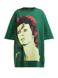 Undercover David Bowie Oversized Cotton T Shirt Green