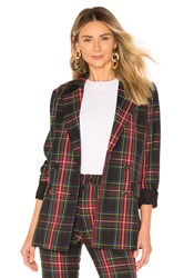 Cynthia Rowley Plaid Blazer Black