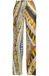 Emilio Pucci Mixed Print Wide Leg Pants