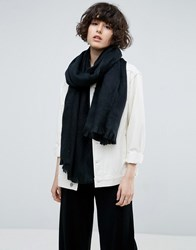 Asos Supersoft Long Woven Scarf Black