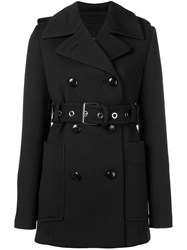 Proenza Schouler Double Breasted Short Coat Black