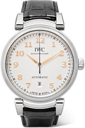 Iwc Schaffhausen Da Vinci Automatic 40 Alligator And Stainless Steel Watch Silver