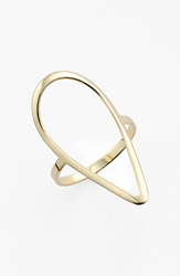 Lana 'Pear' Open Ring Yellow Gold