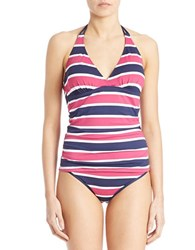 Tommy Bahama Tie Dyed Tankini Top Mare Navy Blue