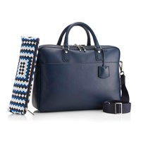 Mark Giusti Double Compartment Laptop Bag Navy Blue
