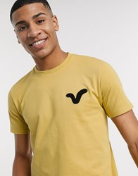Voi Jeans Applique Swirl Logo T Shirt In Stone