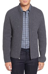 Zachary Prell Men's Zip Wool And Cashmere Cardigan