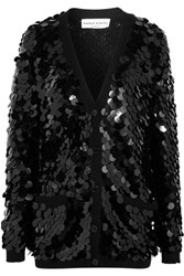 Sonia Rykiel Sequined Wool Cardigan Black