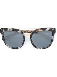 Dolce And Gabbana Oval Frame Sunglasses White