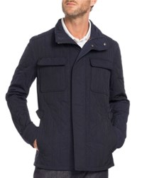 Berluti Quilted Field Jacket Navy Blue