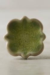 Anthropologie Tangier Ceramic Knob Green