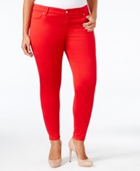 Celebrity Pink Trendy Plus Size Skinny Jeans Tango Red