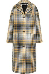 Mcq By Alexander Mcqueen Houndstooth Wool Blend Coat Ivory