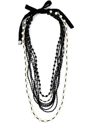 Maria Calderara Beaded Strand Tie Necklace