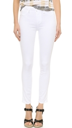 Paige Hoxton Ankle Skinny Jeans Ultra White