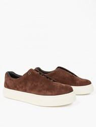 Eytys Tan Suede Doja Sneakers Brown