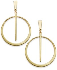Inc International Concepts Gold Tone Circle And Spike Drop Earrings Only At Macy's