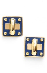 Marc By Marc Jacobs Women's 'Turnlock' Enamel Stud Earrings Sapphire