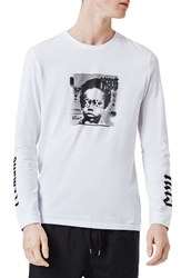 Topman Men's Nas Illmatic Long Sleeve Graphic T Shirt White Multi