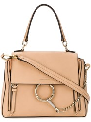 Chloe Faye Tote Bag Leather Cotton Nude Neutrals