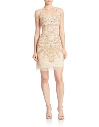Adrianna Papell Beaded Tank Dress Champagne