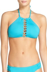 Trina Turk Women's High Neck Bikini Top