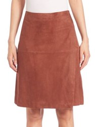 Set Suede Wrap Skirt Light Brown