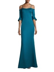 Black Halo Christian Solid Off The Shoulder Gown Jade