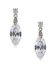 Carolee Cubic Zirconia Studded Drop Earrings White