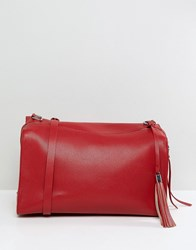 Pieces Holdall With Tassel Detail Flame Scarlet Red