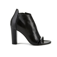 Mcq By Alexander Mcqueen Mcq Alexander Mcqueen Women's Albion Leather Peep Toe Heeled Ankle Boots Black