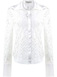 Martha Medeiros Lace Patchwork Shirt White