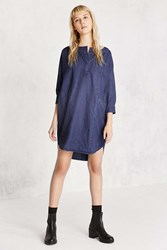 Bdg Everly Dolman Sleeve Denim Mini Dress Indigo