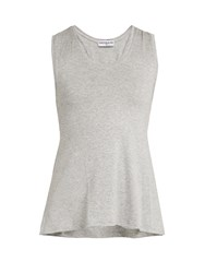 Track And Bliss Key Hole Performance Tank Top Grey