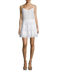 Frame Denim Le Lace Pointelle Trim Tank Dress Blanc Women's Size Xs