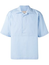 Marni Half Placket Shirt Blue