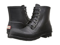 Hunter Original Rubber Lace Up Black Men's Rain Boots