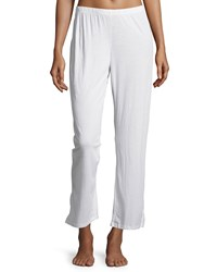 Skin Relaxed Fit Cropped Lounge Pants Crane White