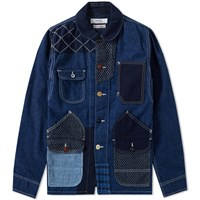 Fdmtl Patchwork Coverall Jacket Blue