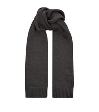 Dolce And Gabbana Knitted Wool Scarf Unisex Grey