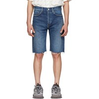 Balenciaga Blue Japanese Denim Shorts